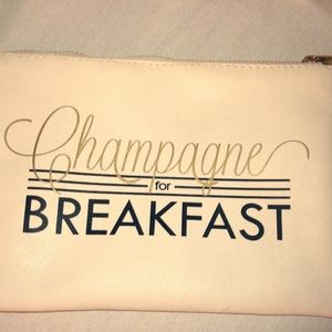 Champagne for Breakfast Zipper Clutch Bag GIFT
